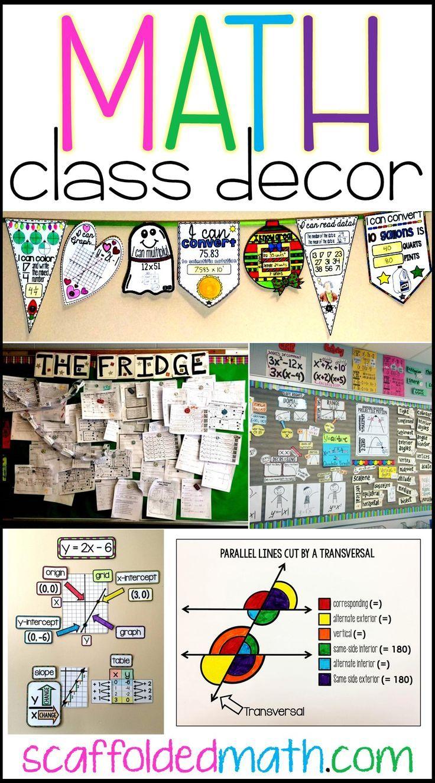 Math Classroom Decoration Ideas Middle School Math Classroom High School Math Classroom Math Word Walls