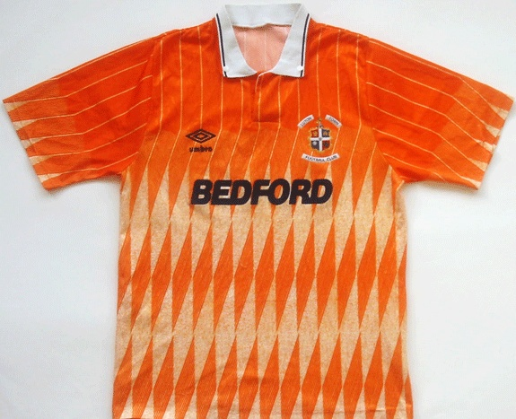 The glorious 1989-90 Luton Town third shirt. Some people don't like it but trust me, they're wrong.