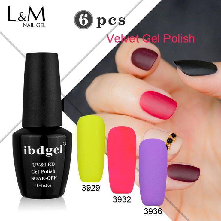 6 Pcs New Arrival Uv Soak Off LED IBDGEL Nail Polish Salon Matte Gel Primer Velvet Gel Polish Gelartist Brands No Need Top Coat