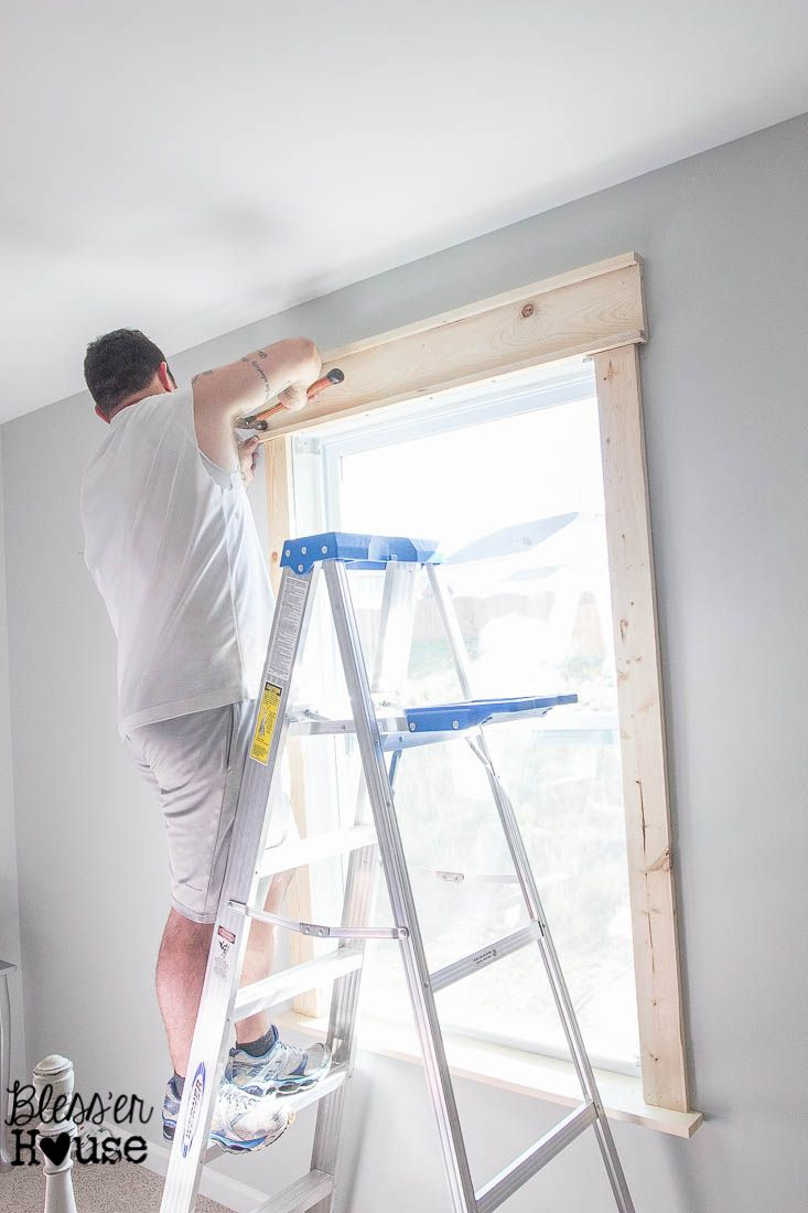 Diy interior window trim - Diy Window Trim The Easy Way