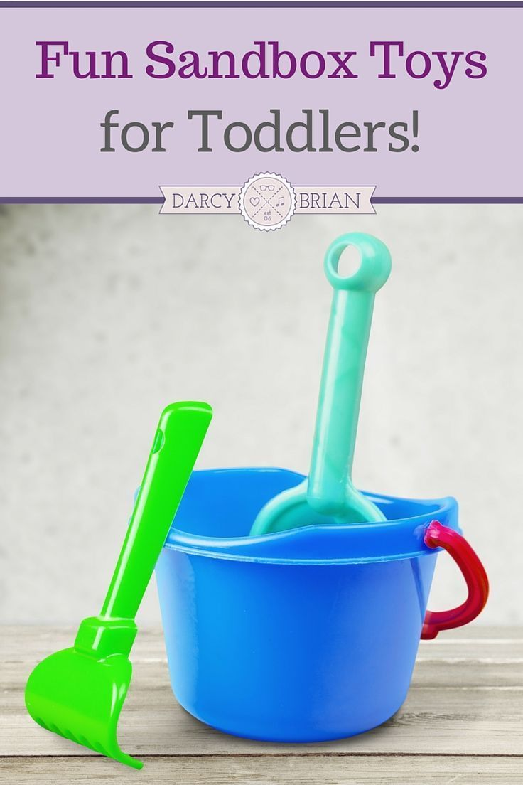 Looking for ways to keep your toddler entertained this summer? Get outside and have a blast with fun outdoor sandbox toys. Stuck indoors? Get creative and find ways to play with them inside too! via @darcyz