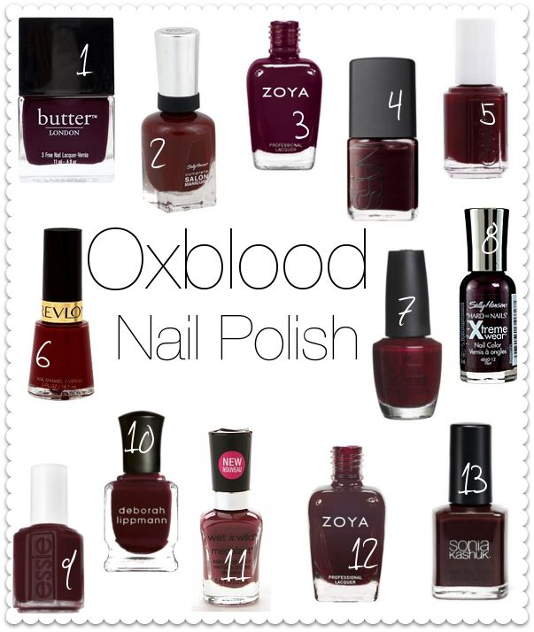 Revlon Oxblood Lipstick | This list was created by Eleventh Gorgeous! I will link their post ...