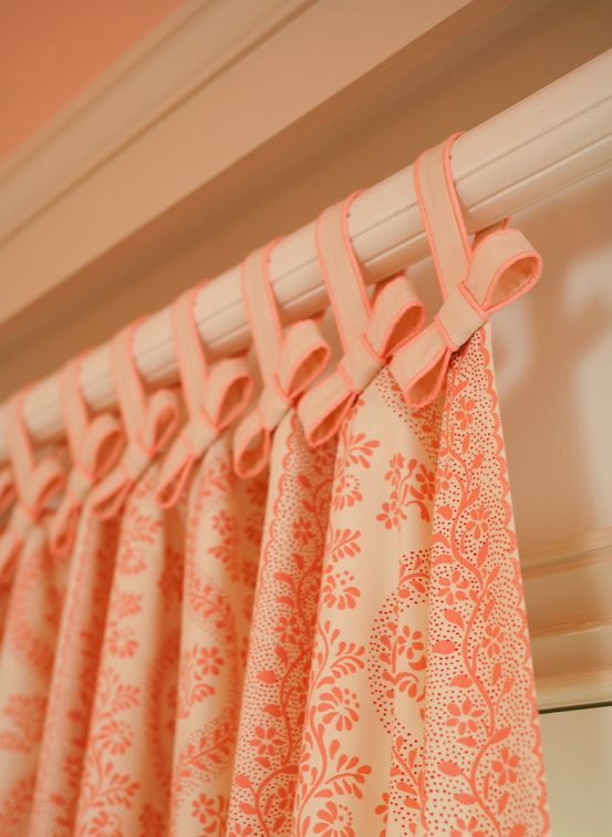 Use ribbon and sheets to make cute curtains