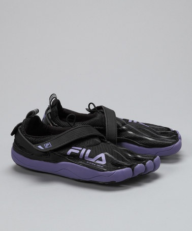 $32 Black & Purple Haze Skele-Toes Running Shoe - Women by Fila Footwear on #zulily someday i'm going to have to try these.  not for running, of course.