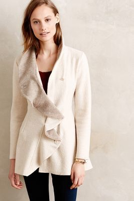Rosie Neira Ruffled Wool Sweatercoat #anthrofave #sale