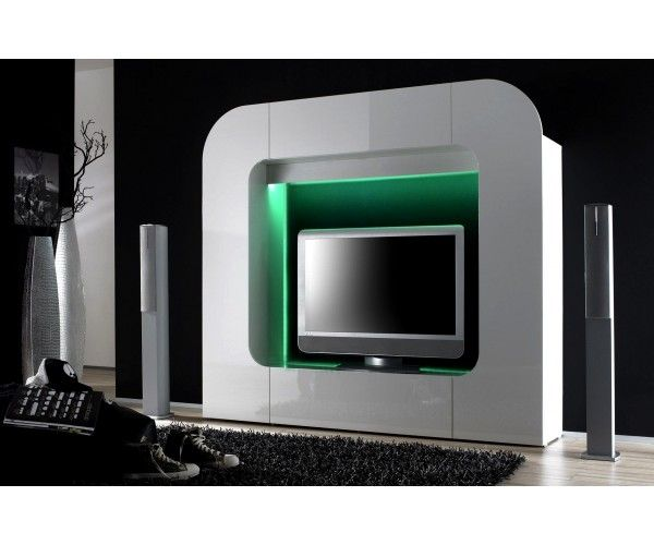 meubletv laqu gris meuble tv - Meuble Tv Design Ibiza A Led