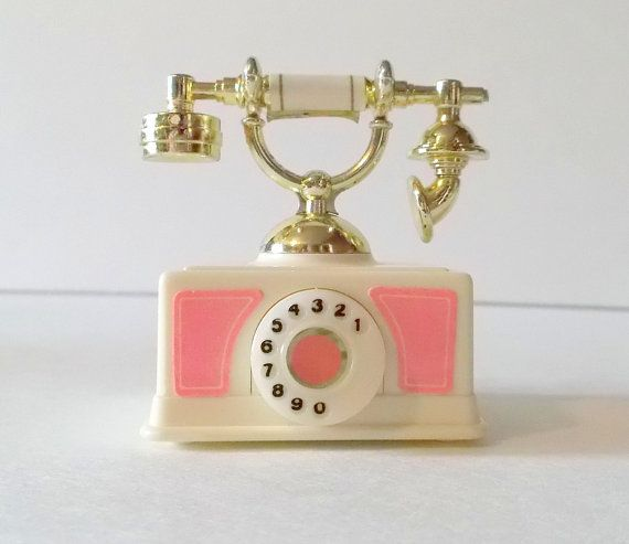 1980s Barbie telephone -- next to my barbie bed in the dream house. Loved that it would ring.