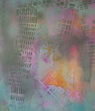 somewhere // katharyna ulriksen 2008 #senseofplace #nonplace #maps #painting #art #elsewhere #color #colour