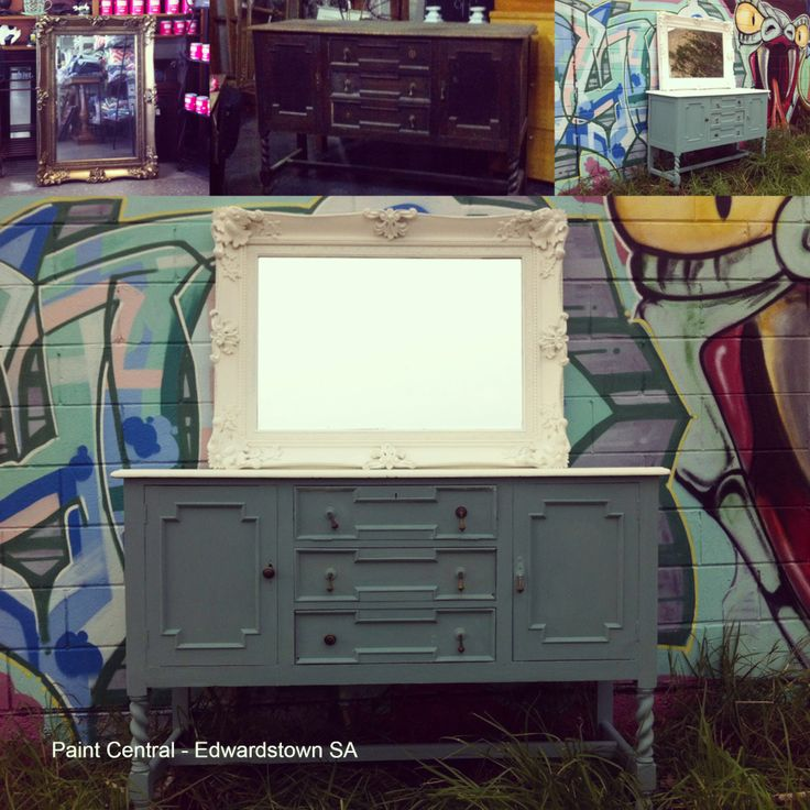 Chalk Emulsion entry from Paint Central Edwardstown, SA. For their first entry an ornate mirror was painted in Porter's Paints Chalk Emulsion in colourway 'Milk' and for a second entry this lovely sideboard is seen with top painted in Porter's Chalk Emulsion 'Milk' and base in 'Studio Grey'! We are so impressed with the entries and are hoping you can please help us decide who the top accolades will go to by casting your 'Like'