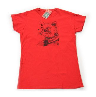 Serious Cat FOR WOMEN  Screen Printing  by HandsomePickles on Etsy