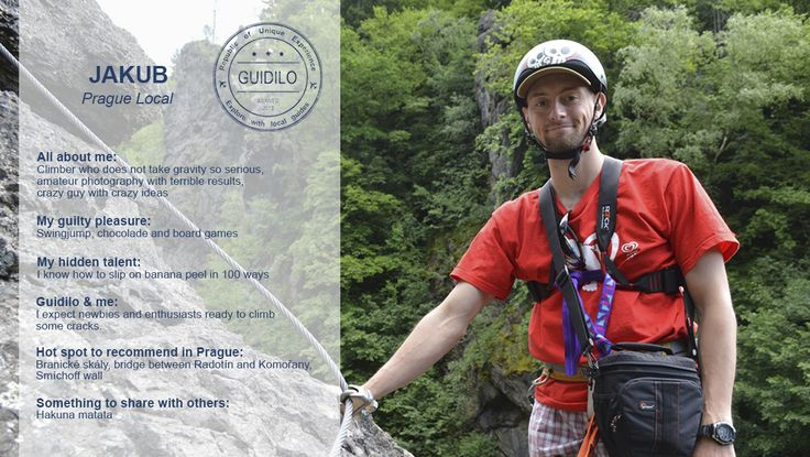 #Climb or learn how to climb like never before in the country of climbers! Try this enjoyable experience that is full of twists and turns, great exercise and plenty of challenging fun. Our #local enthusiast Jakub will share with you his passion for climbing and he'll make your #Prague experience unforgettable! Learn more: http://www.guidilo.com/experience/detail/244
