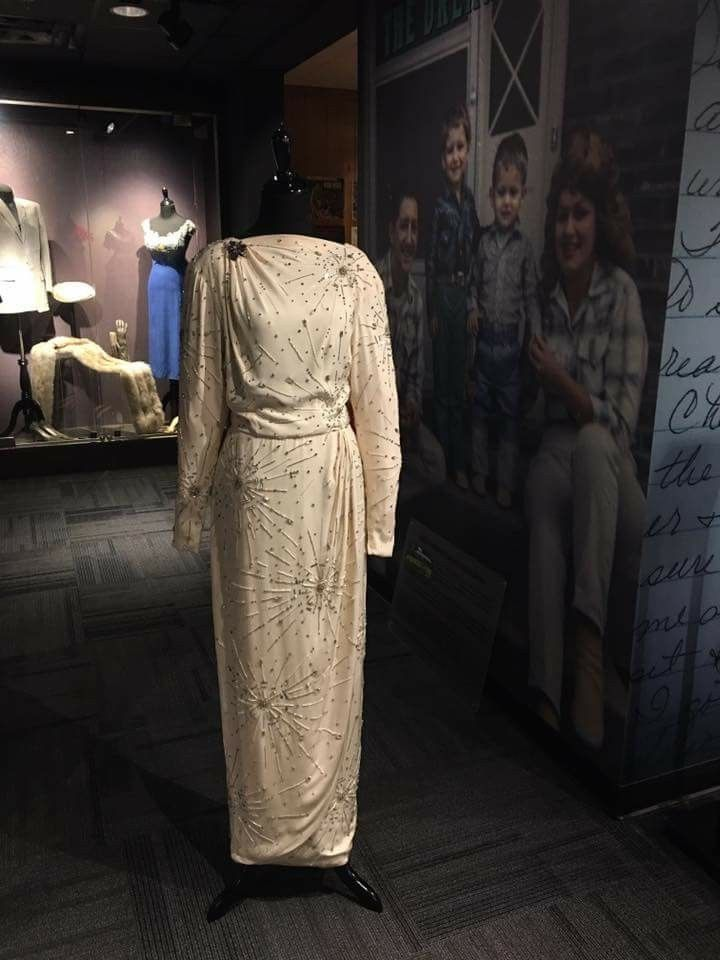Dress donated to the Patsy Cline museum by Loretta Lynn. Dress worn by Jessica Lange in the Movie Sweet Dreams.