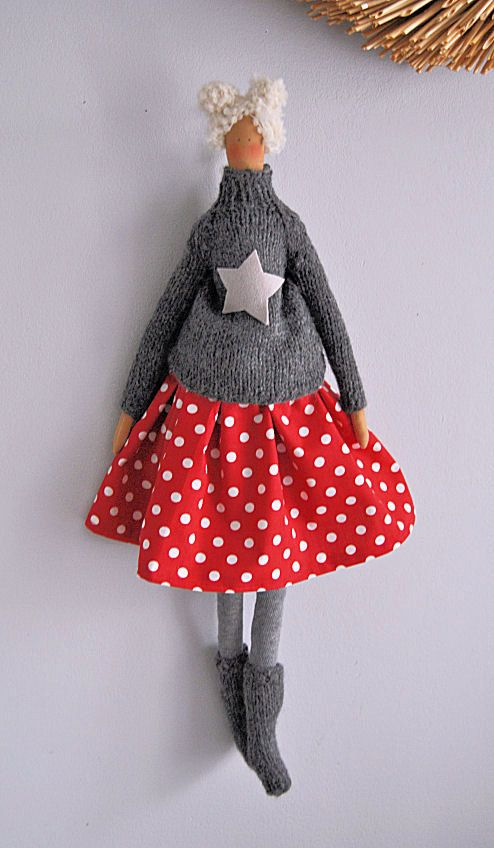 Tilda doll chalet girl by DECOARS on Etsy, $33.00