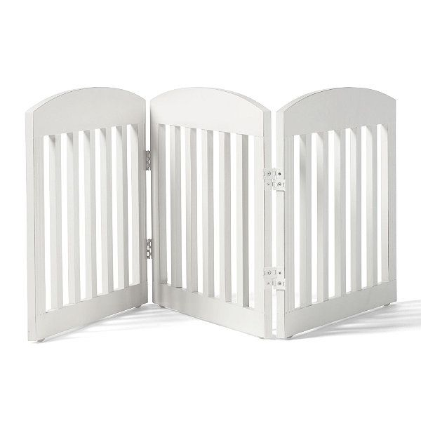 "20""H Freestanding Wooden Pet Gate"