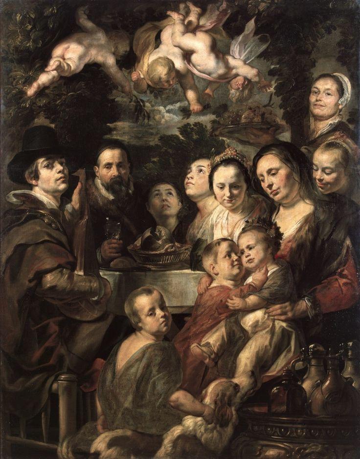 Αυτοπροσωπογραφία με τους γονείς και τα αδέρφια (1615) Μουσείο Ερμιτάζ στην Αγία Πετρούπολη