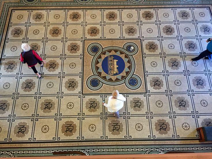 Mosaic floor of the Dunedin Railway station http://neilrawlins.blogspot.co.nz/