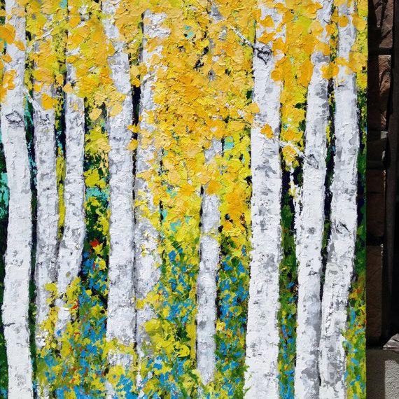 131 best Birch Aspen Tree Paintings images on Pinterest | Paintings ...