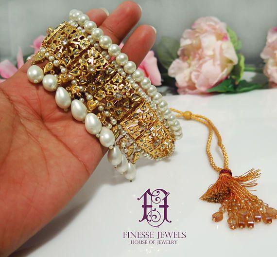 8d5d78de620b3 Jadau Hyderabadi Pearls Choker. High Quality Pakistani Jewelry ...