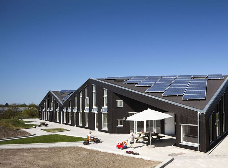 Kindergarten that meets the highest energy requirements and is self-sufficient in energy.