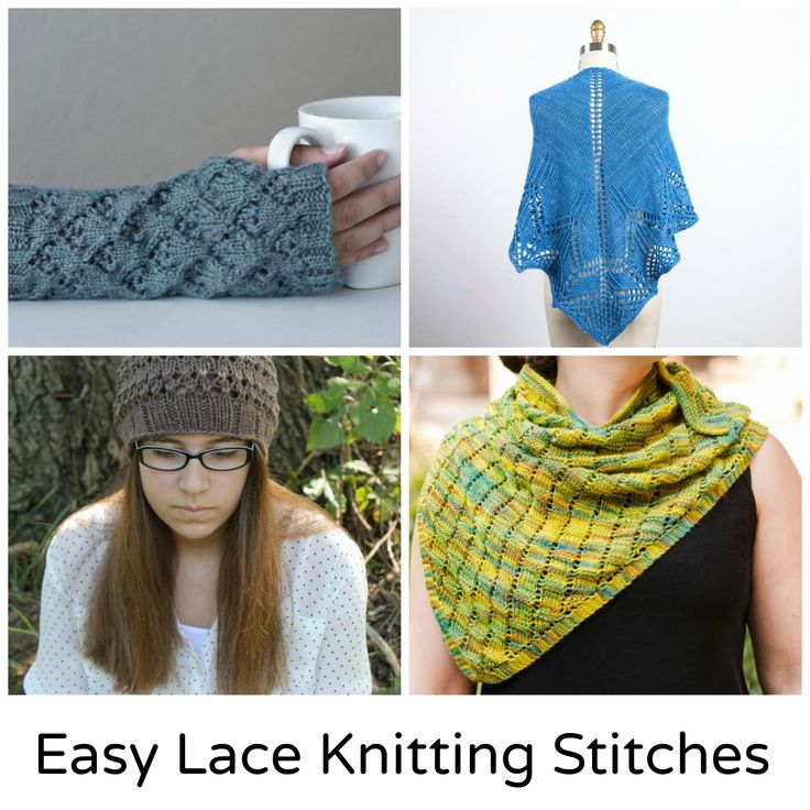 10 Easy Lace Knitting Stitches & Patterns Lace, Lace ...
