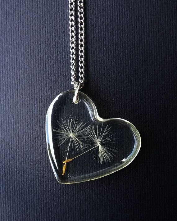 Dandelion Seed Necklace Dandelion Pendant by MetanoiaCharm