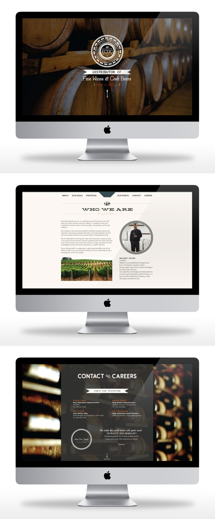 East Coast Distribution Co - DesAutels Designs | logo and website design & development | www.ecdcsc.com