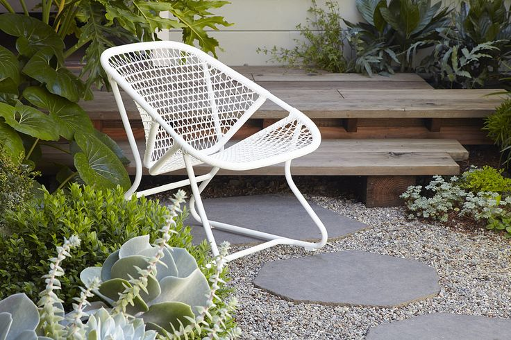 New Fermob Sixties Armchair. Photo by: Caitlin Atkinson for Flora Grubb Gardens.