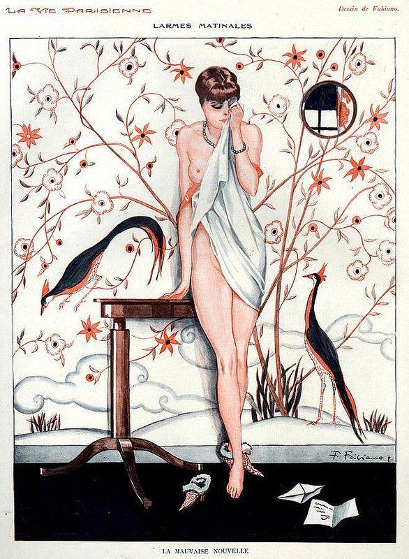 image George barbier erotic fashion art deco illustrator