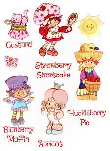 Vintage Strawberry Shortcake Characters