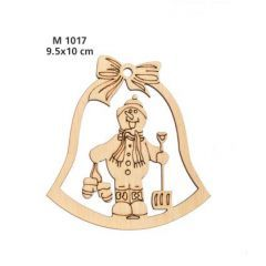 ΞΥΛΙΝΗ ΔΙΑΚΟΣΜΗΤΙΚΗ ΚΑΜΠΑΝΑ ΜΕ ΧΙΟΝΑΝΘΡΩΠΟ - ΚΩΔ:M1017-AD