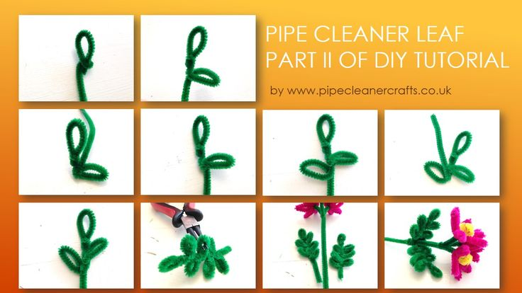 pipe cleaner leaf tutorial. I hope the steps are clear...