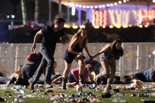 Gunman kills at least 50 people and wounded more than 200 in Las...  Gunman kills at least 50 people and wounded more than 200 in Las Vegas  A gunman killed at least 50 people and wounded more than 200 at a country music festival on the Las Vegas Strip on Sunday shooting down from the 32nd floor of a hotel where he was shot dead by police.  Police described the suspect as being a local Las Vegas man who acted alone and was not believed to be connected to any militant group Clark County…