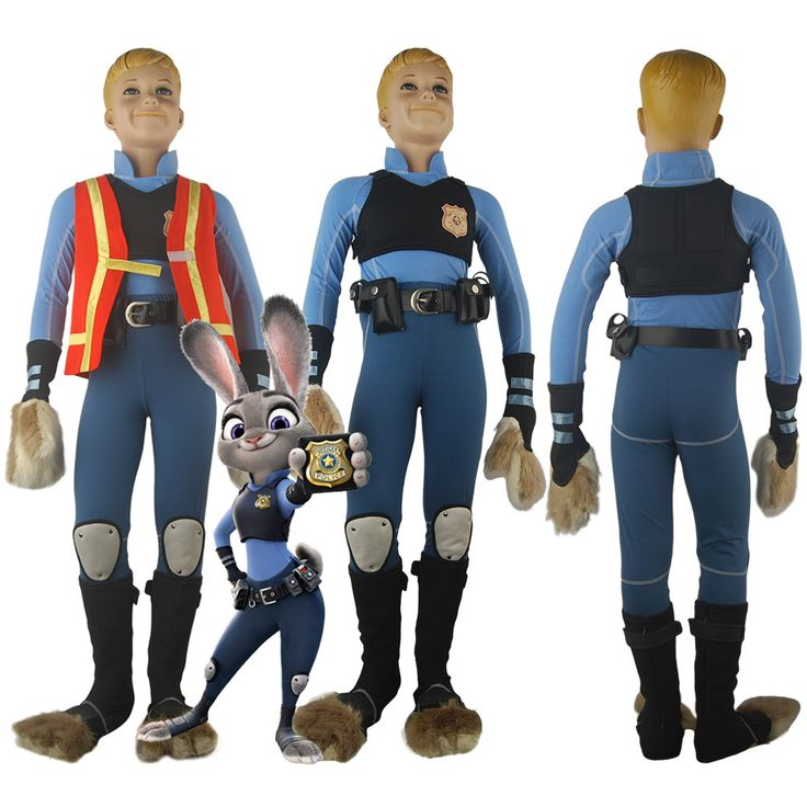 Kids Girls Zootopia Bunny Officer Judy Hopps Outfit Police Uniform Halloween Comic-con Cosplay Costume Birthday Xmas Gift