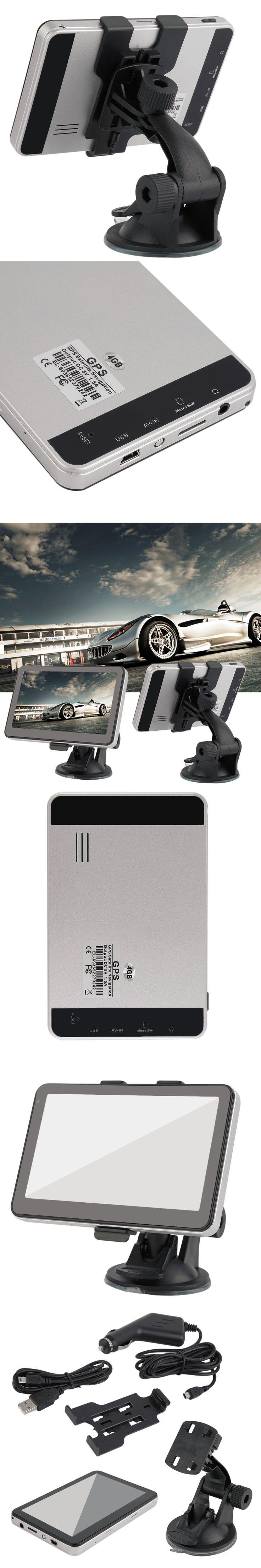 "5"" Inch Truck Lorry GPS Navigation 128MB 8GB SAT NAV Maps Free Update SpeedCam Navigator 800MHZ WinCE 6.0 FM Hot Selling"