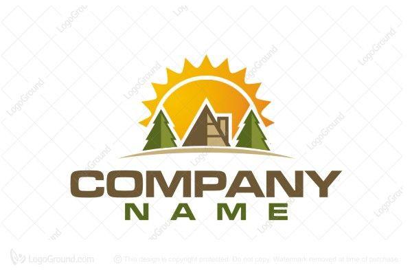 Logo for sale: Wood Sunrise Real Estate Logo