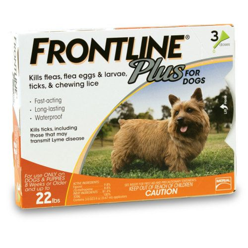 Frontline Plus for Dogs and Puppies provides protection against fleas, ticks and chewing lice for 30 days. Also controls sarcoptic mange infestations.