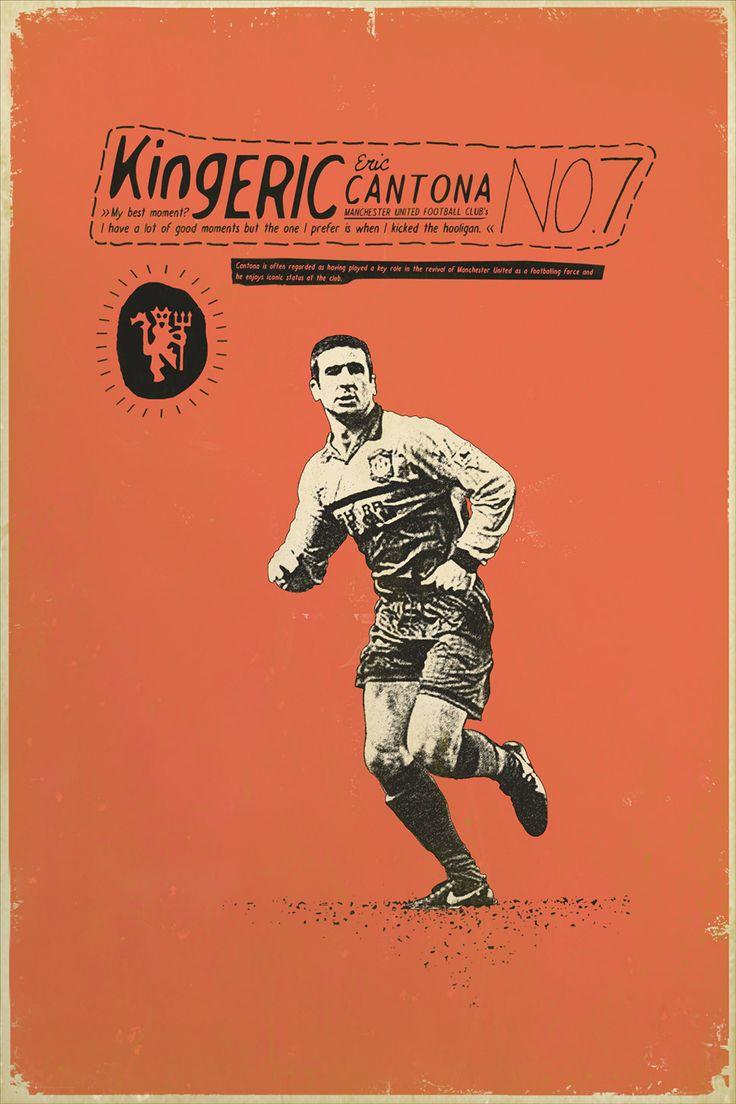Eric Cantona #football #poster #design