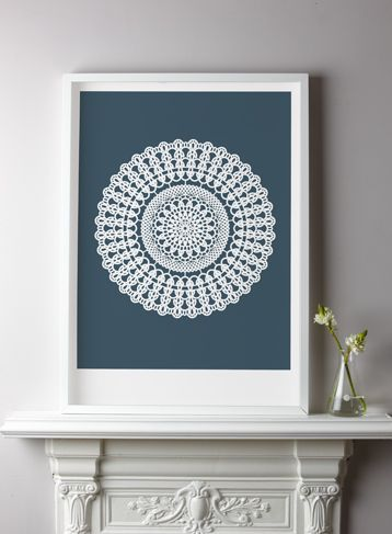 THE PRINT ROOM :: DOILY PRINT - Petrol - Shop at Number 57