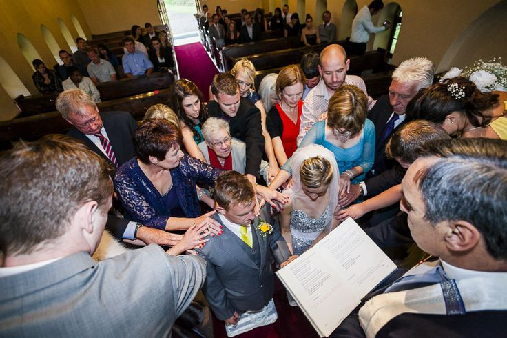 There's nothing more beautiful than having your whole family pray over you on your wedding day