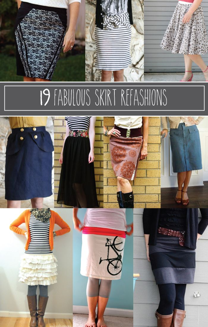 19 Fabulous Skirt Refashion Projects