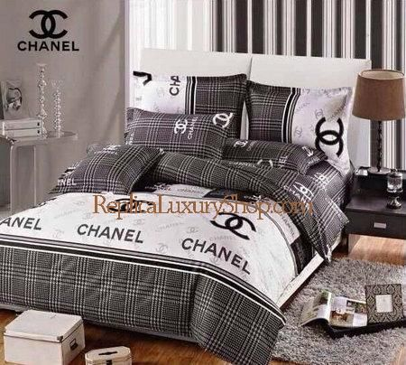 Luxury Chanel Bedding - $143.20.   Includes one bed sheet, one bed cover, two bolsters and two cushions.