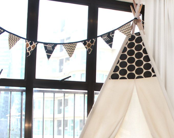 READY TO SHIP-Polka Dot Natural Canvas Teepee Kids Teepee Black u0026 White. Teepee KidsPlay TentsEtsy ... & 10 best Etsy Shop - Kids Teepee Malaysia on Etsy images on ...