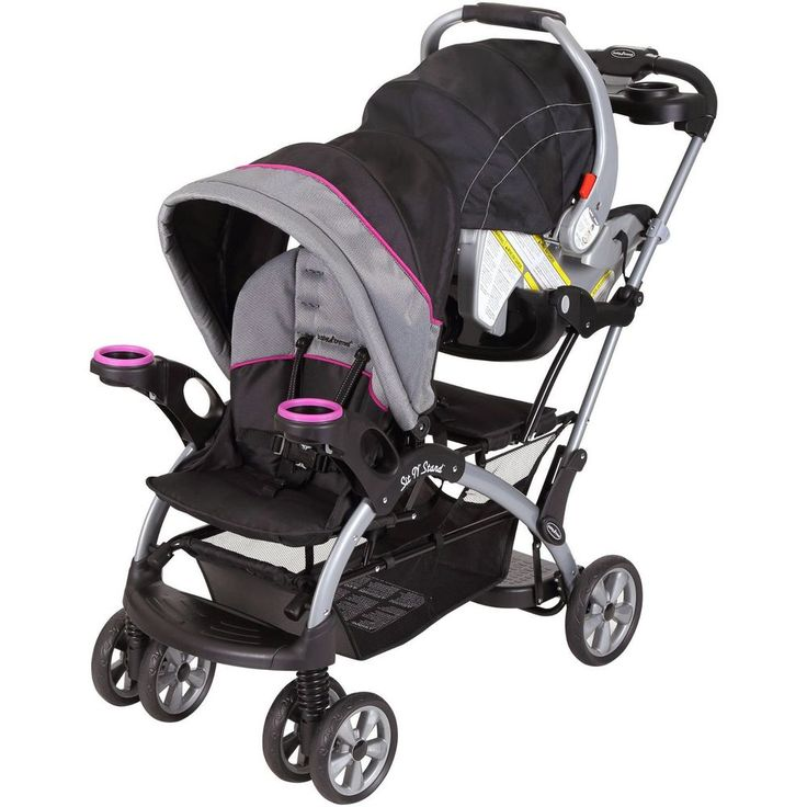 Sit And Stand Stroller Infant + Toddler Double Travel System Storage Baby Trend #BabyTrend