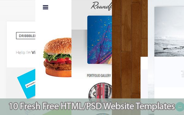 10 Fresh Free HTML/PSD Website Templates