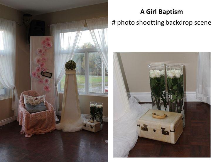 A Girl Baptism # photo shooting backdrop scene