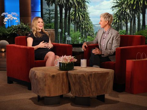 """""""I got nothing to prove. I feel like when I arrive at the hospital, I want a glass of whiskey, I want the epidural in my back and I want to be hit in the face with a baseball bat, and just wake me up when it's over."""" --The expectant Kristen Bell"""
