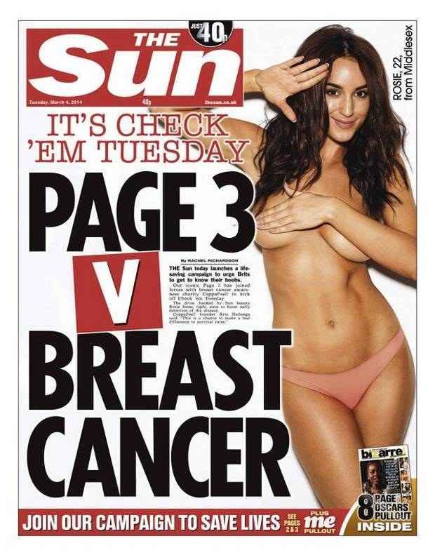 Read the letter a woman with breast cancer sent to the Sun slamming it sexist page 3 campaign.
