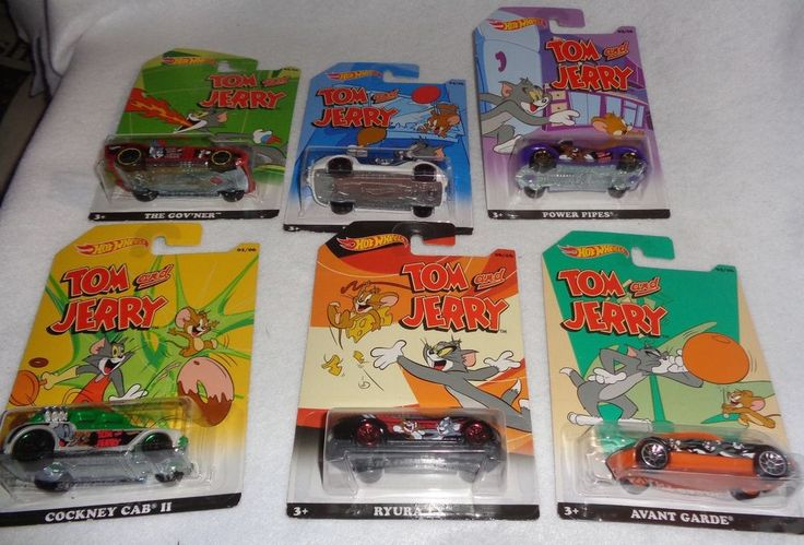 2015 Hot Wheels Walmart Exclusive Tom and Jerry Cartoon Complete Set of 6 #Mattel