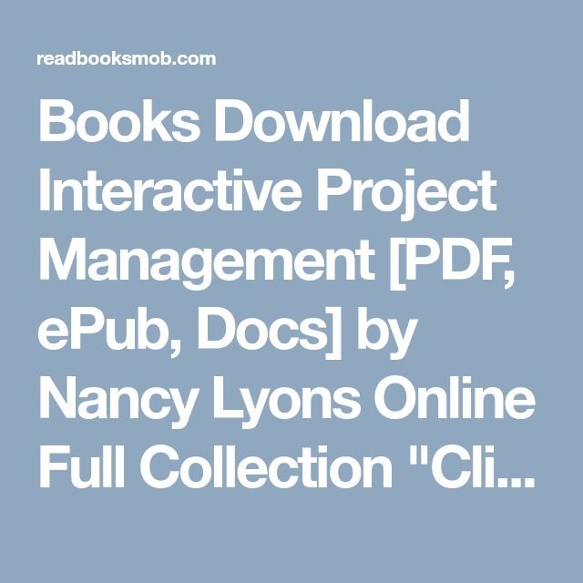 Best 25 free epub books ideas on pinterest old websites books download interactive project management pdf epub docs by nancy lyons online fandeluxe Gallery