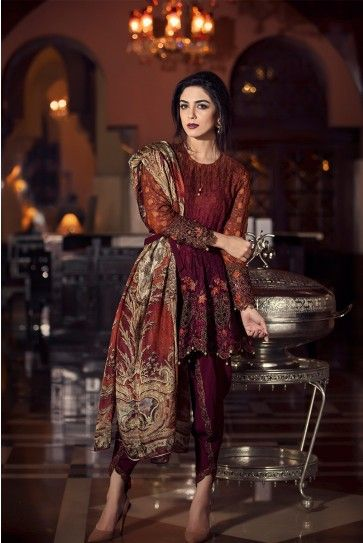 Maria B Mbroidered Fabric Eid UL Adha New Collection 2016-17 Maria B Embroidered…